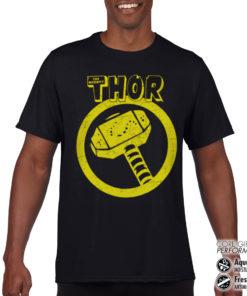 T-Shirt de sport Thor Hammer anti-transpi pour homme de couleur Noir