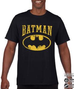 T-Shirt de sport Vintage Batman anti-transpi pour homme de couleur Noir