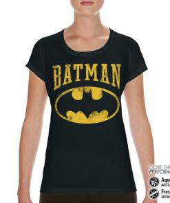 T-Shirt de sport Vintage Batman pour femme de couleur Noir