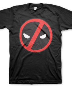 T-Shirt Deadpool Icon de couleur Noir