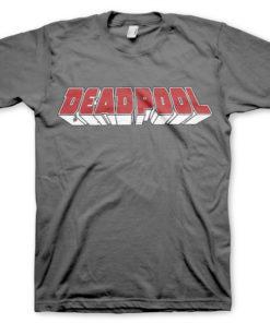 T-Shirt Deadpool Logo de couleur Gris Foncé