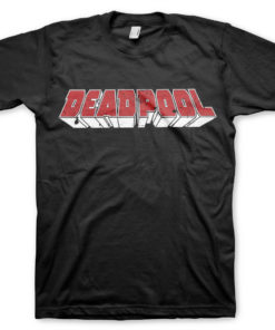T-Shirt Deadpool Logo de couleur Noir