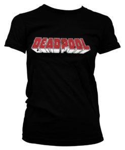 T-Shirt Deadpool Logo pour Femme de couleur Noir