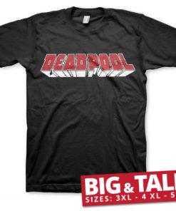 T-shirt Deadpool Logo grandes Tailles de couleur Noir