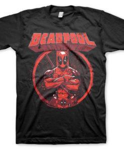 T-Shirt Deadpool Pose de couleur Noir