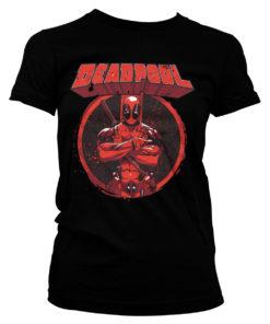 T-Shirt Deadpool Pose pour Femme de couleur Noir
