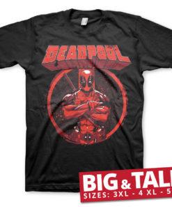 T-shirt Deadpool Pose grandes Tailles de couleur Noir