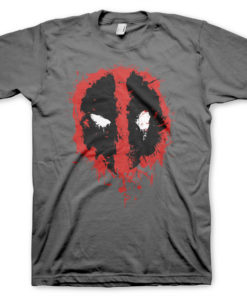 T-Shirt Deadpool Splash icon de couleur Gris Foncé