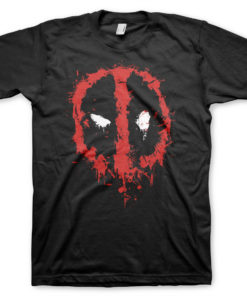 T-Shirt Deadpool Splash icon de couleur Noir