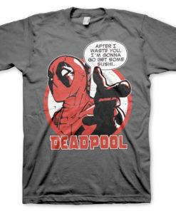 T-Shirt Deadpool - Sushi de couleur Gris Foncé