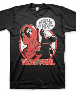 T-Shirt Deadpool - Sushi de couleur Noir