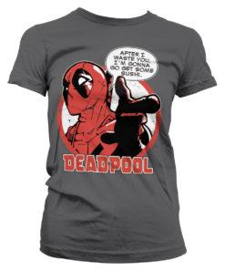 T-Shirt Deadpool - Sushi pour Femme de couleur Gris Foncé