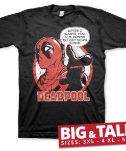 T-shirt Deadpool - Sushi grandes Tailles de couleur Noir