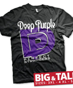 T-shirt Deep Purple - Perfect Strangers grandes Tailles de couleur Noir