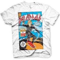 T Shirt Def Leppard Comic Cover de couleur Blanc