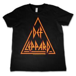 T-Shirt Def Leppard Logo  pour enfant de couleur Noir