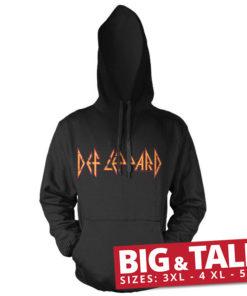 T-shirt Def Leppard Logo grandes Tailles de couleur Noir