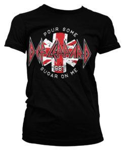 T-Shirt Def Leppard - Pour Some Sugar On Me pour Femme de couleur Noir