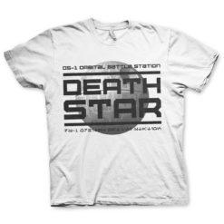 T Shirt DS-1 Orbital Battle Station de couleur Blanc