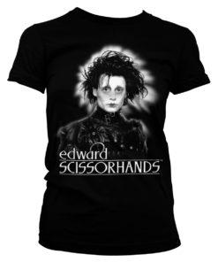 T-Shirt Edward Scissorhands pour Femme de couleur Noir
