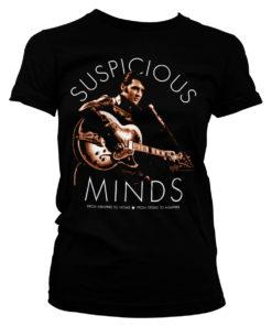 T-Shirt Elvis Presley - Suspicious Minds pour Femme de couleur Noir