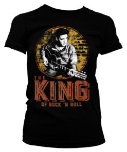T-Shirt Elvis Presley - The King Of Rock 'n Roll pour Femme de couleur Noir