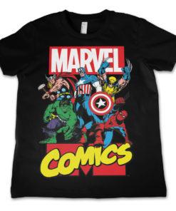 T-shirt Marvel enfant (noir)