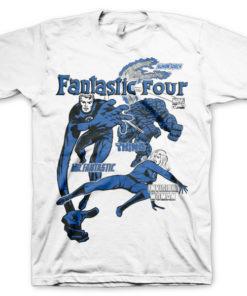 T-shirt Fantastic Four grandes Tailles de couleur Blanc