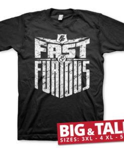 T-shirt Fast & Furious - Est. 2007 grandes Tailles de couleur Noir