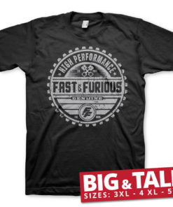 T-shirt Fast & The Furious Genuine Brand Big & Tall  grandes Tailles de couleur Noir