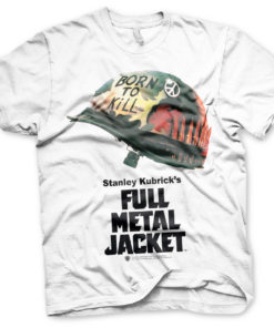 T Shirt Full Metal Jacket Poster de couleur Blanc