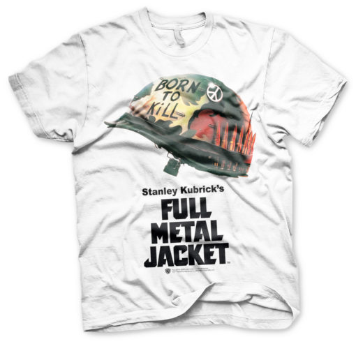 T Shirt Full Metal Jacket Poster de couleur Blanc