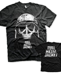 T-Shirt Full Metal Jacket - Skull de couleur Noir