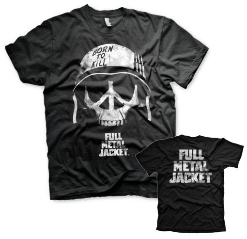 T-Shirt Full Metal Jacket - Skull de couleur Noir