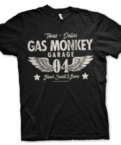 T-Shirt Gas Monkey Garage 04-WINGS de couleur Noir