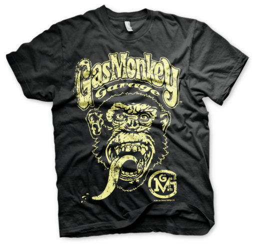 T-Shirt Gas Monkey Garage Big Brand Logo  de couleur Noir