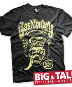 T-shirt Gas Monkey Garage Big Brand Logo grandes Tailles de couleur Noir
