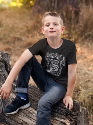Enfant portant un T-shirt Gast Monkey Garage