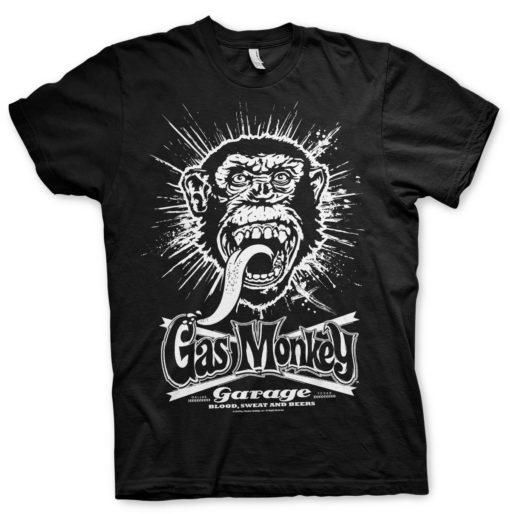 T-Shirt Gas Monkey Garage Explosion de couleur Noir