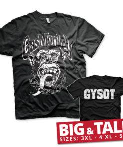 T-shirt Gas Monkey Garage GYSOT grandes Tailles de couleur Noir
