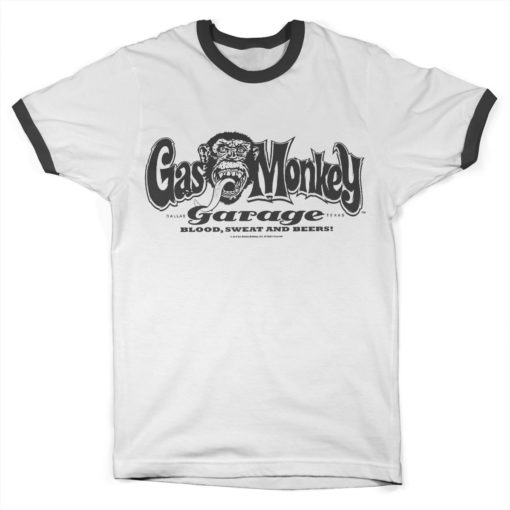 T Shirt Gas Monkey Garage Logo Ringer  de couleur