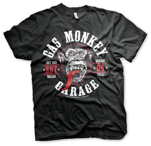 T-Shirt Gas Monkey Garage Round Seal de couleur Noir