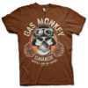 T-Shirt Gas Monkey Garage Skull de couleur Marron