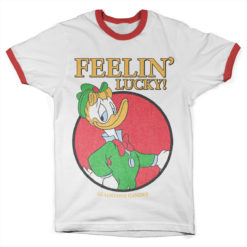 T Shirt Gladstone Gender - Feelin' Lucky Baseball Ringer  de couleur
