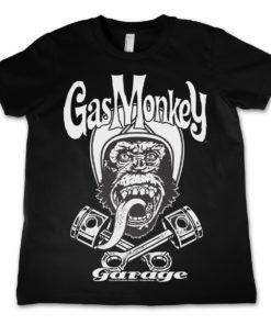 T-Shirt GMG Biker Monkey  pour enfant de couleur Noir