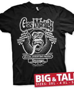T-shirt GMG Flags grandes Tailles de couleur Noir