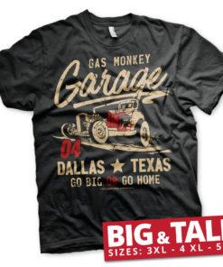 T-shirt GMG - Go Big Or Go Home grandes Tailles de couleur Noir