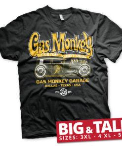 T-shirt GMG - Green Hot Rod grandes Tailles de couleur Noir