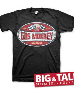 T-shirt GMG Since 2004 Label grandes Tailles de couleur Noir