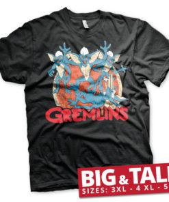 T-shirt Gremlins Group grandes Tailles de couleur Noir